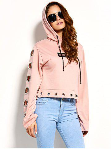 Trendy Cute Embroidery Iron Ring Hoodie