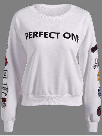 Buy Perfect One Graphic Patch Design Sweatshirt