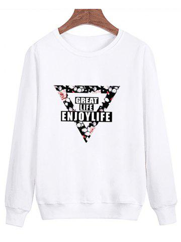 Latest Floral Inverted Triangle Printed Pullover Sweatshirt