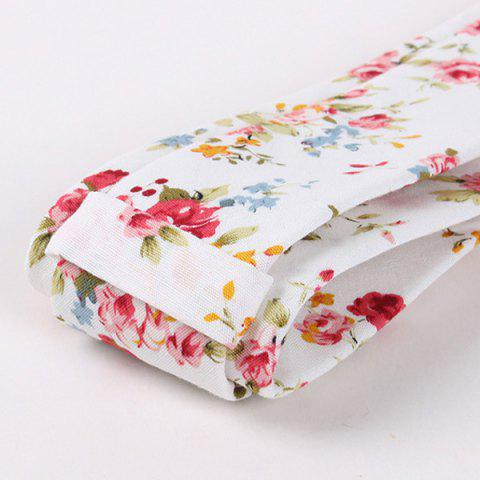 Store 6CM Width Little Flower Printed Neck Tie - RED  Mobile