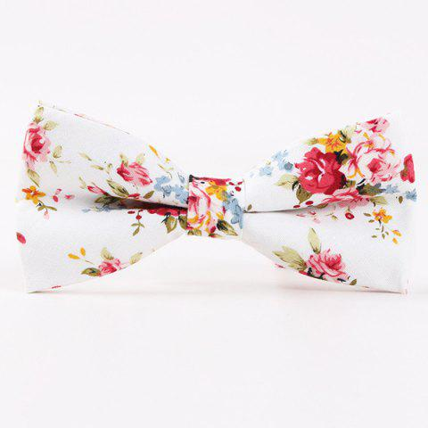 Little Flower Printed Casual Bow Tie - Red