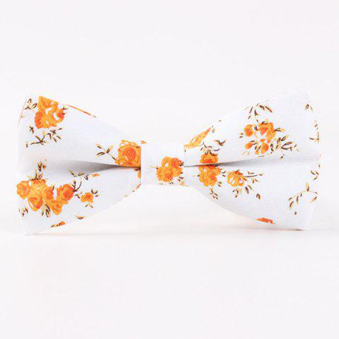 Little Flower Printed Casual Bow Tie - ORANGE