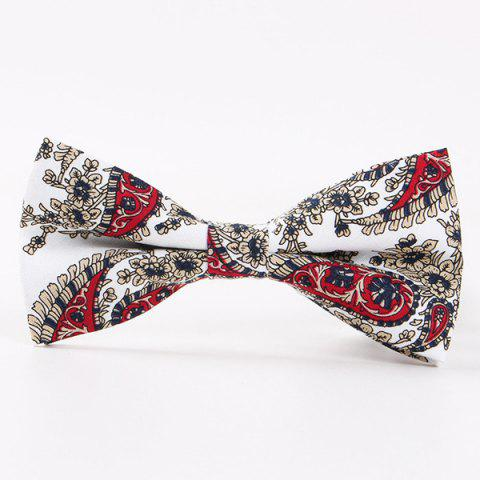 Cheap Retro Flower Printed Bow Tie