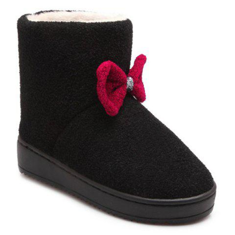 Store Bow Platform Snow Boots