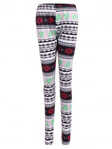 Unique Tribal Print Geometric Christmas Skinny Leggings
