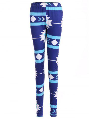 Trendy Geometric Christmas Skinny Leggings