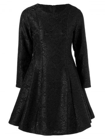 New Lace Insert Fit and Flare Dress