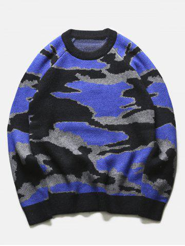 Best Crew Neck Camouflage Graphic Long Sleeve Sweater