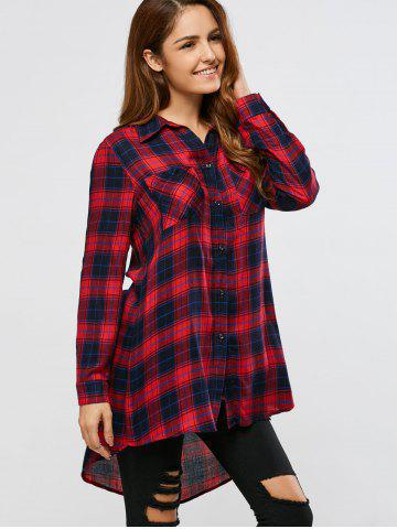 Fancy Plaid High Low Shirt