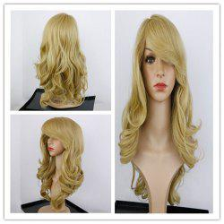 Charming Long Synthetic Blonde Capless Fluffy Wavy Wig For Women