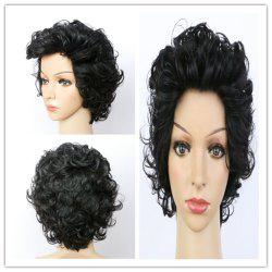 Handsome Ultrashort Curly Natural Black Women's Synthetic Hair Wig