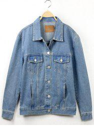 Button Fly Denim Jacket