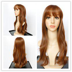 Prevailing Long Slightly Curled Full Bang Mixed Color Women's Synthetic Hair Wig