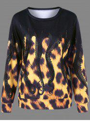 Leopard and Octopus Print Sweatshirt -
