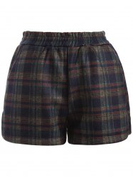 Wide Leg Plus Size Plaid Shorts