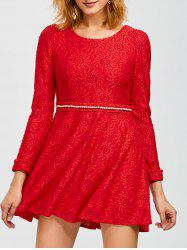 Mini Lace Flare Dress -