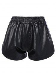 Faux Leather Streetwear Shorts -