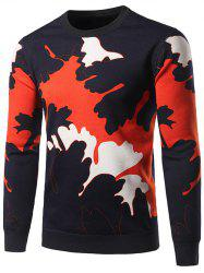 Crew Neck Splatter Graphic Sweater
