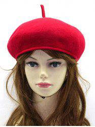 Winter Warm Wool Beret French Hat - RED