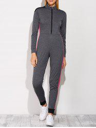 Casual Color Block Sporty Jumpsuit