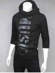 Pocket Front Graphic Pullover Hoodie -