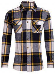 Chest Pocket Button Up Plaid Shirt