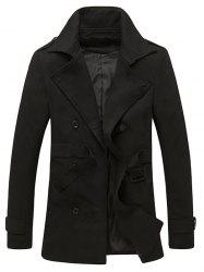 Epaulet Design Back Vent Belted Trench Coat