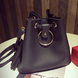 PU Leather Tassels Crossbody Bag