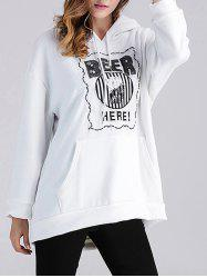 Beer Applique Thicken Maternity Hoodie