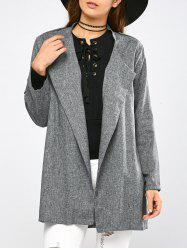 Epaulet Open Front Walker Coat