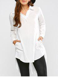 Longline High Low Blouse
