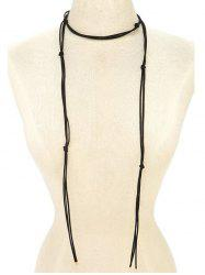 Choker Drawstring Sweater Chain - BLACK