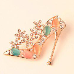 Rhinestone High Heeled Shoe Brooch