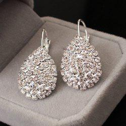 Rhinestoned Water Drop Earrings