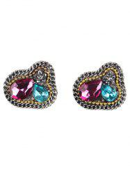 Vintage Faux Gem Earrings