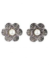 Artificial Pearl Flower Earrings
