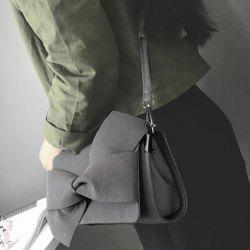 Splicing Bow Magnetic Closure Crossbody Bag