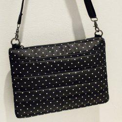 Stitching Nylon Zipper Crossbody Bag
