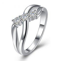 Rhinestone Infinite Ring - SILVER