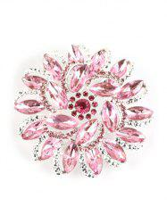 Rhinestone Flower Brooch -
