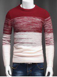 Plus Size Color Block Ombre Spliced Long Sleeve Sweater