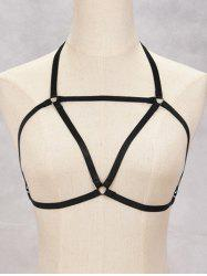 Harness Bra Bondage Triangle Body Jewelry - BLACK