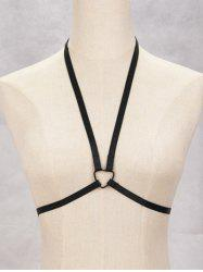 Heart Harness Bra Bondage Body Jewelry -