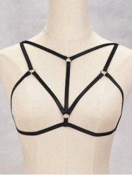 Harness Bra Bondage Hollowed Body Jewelry - BLACK