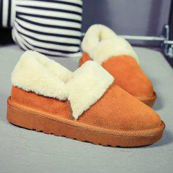 Flocking Suede Ankle Snow Boots -