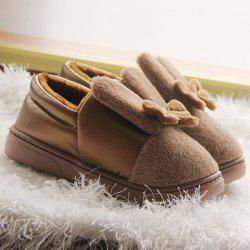 Bowknot House Fur Slippers - CHOCOLATE