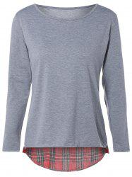 Tartan Elbow Patch T-Shirt -