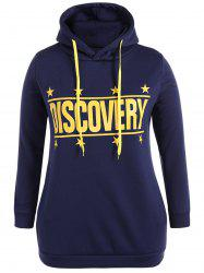 Discovery Print Plus Size Hoodie -