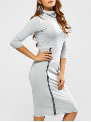 Zipper Bodycon Dress