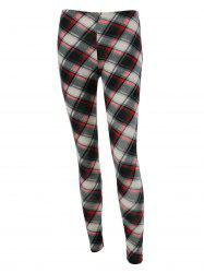 Plaid Fitted Leggings - CHECKED